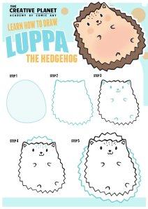 How-to-draw-Luppa-Hedgehog